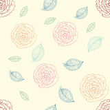 Cute rose seamless pattern Stock Image