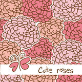 Cute roses Stock Images