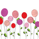 Cute Roses background Stock Photography