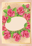 Cute roses card Royalty Free Stock Images