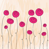 Cute roses illustration Royalty Free Stock Photo