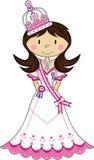Cute Royal Fairytale Princess. Vector Illustration of a Cute Cartoon Royal Princess with Crown Stock Photography