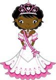 Cute Royal Fairytale Princess. Vector Illustration of a Cute Cartoon Royal Princess with Tiara Stock Photography