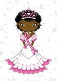 Cute Royal Fairytale Princess. Vector Illustration of a Cute Cartoon Royal Princess with Tiara Stock Photos