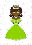 Cute Royal Fairytale Princess. Vector Illustration of a Cute Cartoon Royal Princess with Tiara Stock Photo
