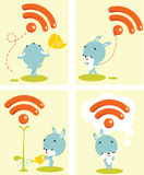 Cute RSS Icon Stock Images