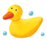 Cute rubber duck Stock Photo