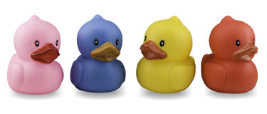 Cute rubber duck isolated over white background Royalty Free Stock Photo
