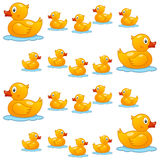 Rubber Duck Family Seamless Pattern Royalty Free Stock Images