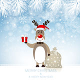 Cute Rudolph Reindeer - Illustration Stock Photography