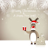 Cute Rudolph Reindeer - Illustration Stock Image