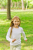 Cute running girl Royalty Free Stock Images