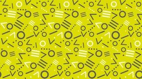 Cute 80`s style seamless geometric pattern Stock Image