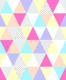 Cute 80`s style seamless geometric pattern with triangles. For your decoration Stock Illustration