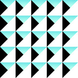 Cute 80`s style seamless geometric pattern. With triangles for your decoration Royalty Free Illustration