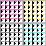 Cute 80`s style seamless geometric pattern. With triangles for your decoration Stock Illustration