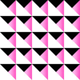 Cute 80`s style seamless geometric pattern. With triangles for your decoration Vector Illustration