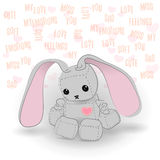 Cute sad bunny robot miss you Royalty Free Stock Photography