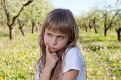 Cute sad girl Royalty Free Stock Photography
