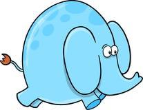 Cute Safari Blue Elephant Royalty Free Stock Photos