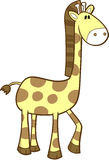 Cute safari Giraffe. Vector Illustration Royalty Free Stock Image