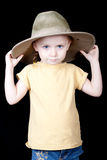 Cute Safari Girl Royalty Free Stock Images