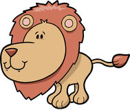 Cute safari Lion. Vector Illustration Stock Images