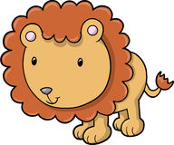 Cute Safari Lion Vector Stock Images