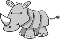 Cute Safari Rhino. Vector Illustration Stock Photos