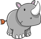Cute Safari Rhino Vector Illustration stock illustration