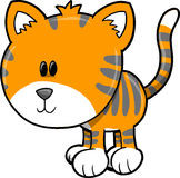 Cute Safari Tiger Vector Illustration Royalty Free Stock Images