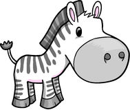 Cute Safari Zebra Vector Royalty Free Stock Photo