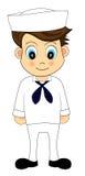 Cute sailor in uniform Royalty Free Stock Photos