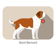 Cute Saint Bernard dog, vector illustration Stock Photography