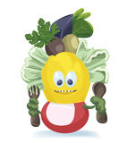 Cute salad monster. Characters creation Stock Photo