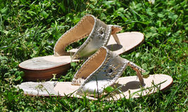 Cute Sandals. Pretty sandals in the summer time Royalty Free Stock Photo