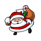Cute santa. Cute and friendly Santa Claus ready with Christmas gifts Stock Photography