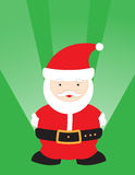 Cute Santa. Illustration with a green festive background. Vector file available vector illustration