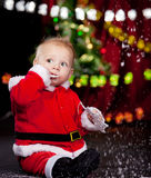 Cute Santa baby Royalty Free Stock Photo