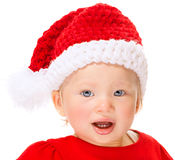 Cute Santa baby portrait Stock Photography