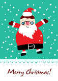 Cute santa card Royalty Free Stock Photos