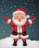Cute Santa cartoon waving hand Stock Images