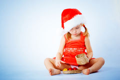 Cute Santa child Royalty Free Stock Photography