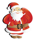 Cute Santa Claus. Vector illustration of cute Santa Claus isolated on white background vector illustration