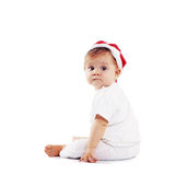 Cute Santa Claus baby Stock Photography