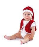 Cute Santa Claus baby Royalty Free Stock Images
