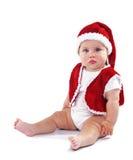 Cute Santa Claus baby Royalty Free Stock Images