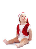 Cute Santa Claus baby Stock Photos