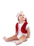 Cute Santa Claus baby Stock Photos