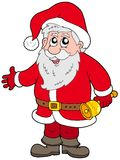 Cute Santa Claus with bell Royalty Free Stock Photo